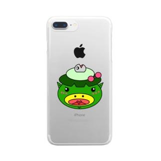 サカナカッパコの顔 Clear smartphone cases