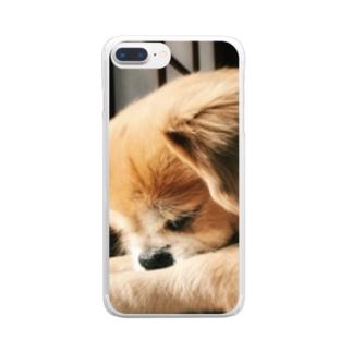 おひるね Clear smartphone cases