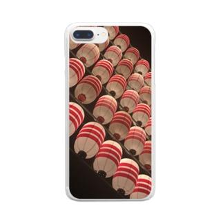 夜祭 Clear smartphone cases