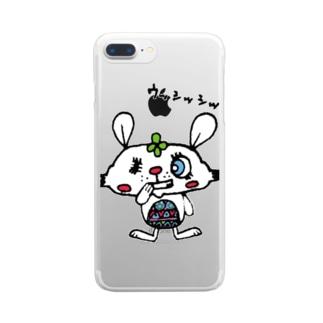 悪巧みするうさぎ Clear smartphone cases