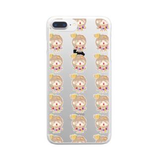 ☆みぉのおもちゃばこ☆のちびみぉ☆いっぱい Clear smartphone cases