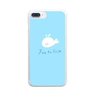 白いクジラ Clear smartphone cases