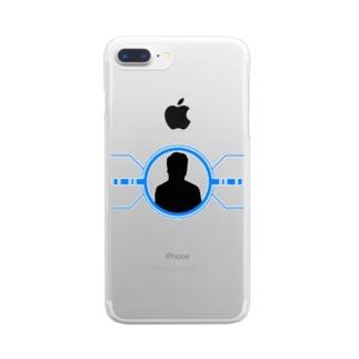 シルエット(かっこいい) Clear smartphone cases