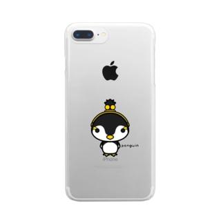 がま口ペンギンさん Clear smartphone cases