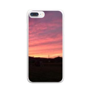 しらさぎ荘の夕暮れ Clear smartphone cases
