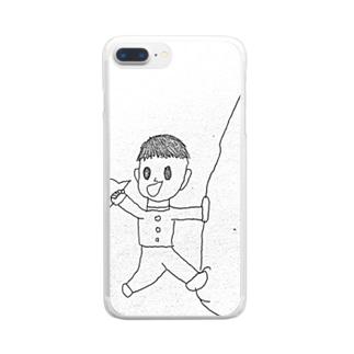 やまのぼりくん Clear smartphone cases