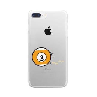 PaP➡︎Poco.a.Pocoのコロコロ、ビリヤード Clear smartphone cases