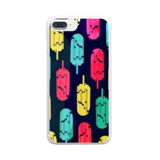 アイスキャンドルゴースト Clear smartphone cases