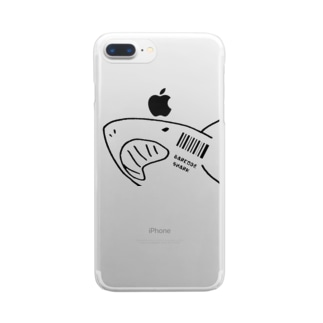 @miのバーコードシャーク Clear smartphone cases