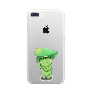 ふきもちカッパ Clear smartphone cases