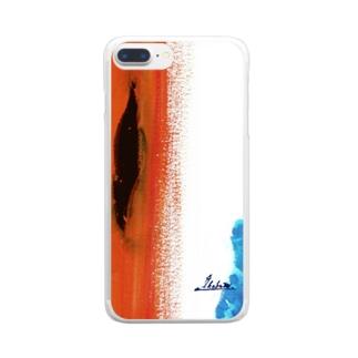 ikaboze×catalpa 裂け目 スマホケース Clear smartphone cases