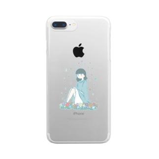 花だらけ Clear smartphone cases