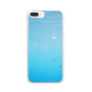 ぶにんのクラゲ Clear smartphone cases