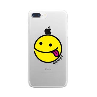 舐めプスマホケース Clear smartphone cases
