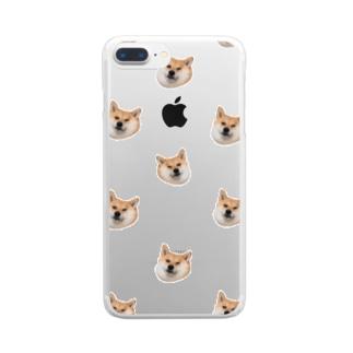 たくさんの犬たち Clear smartphone cases