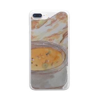 チキンカレー Clear smartphone cases