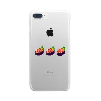 ドッド絵 いくら軍艦3巻 Clear smartphone cases