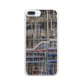 配管スマホケース Clear smartphone cases