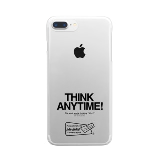 THINK ANY TIME! GOODS Clear smartphone cases