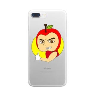 りんごレッド Clear smartphone cases