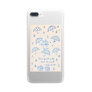 Donkey in the rain Clear smartphone cases