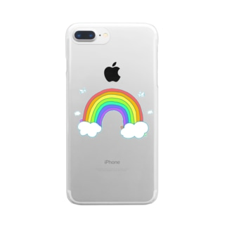 虹の空 Clear smartphone cases