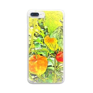 ほおずき Clear smartphone cases