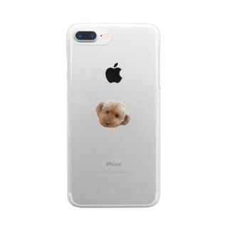 犬のスマホケース Clear smartphone cases