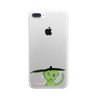 小学2年生はーさんが描いた「KAPPA」 Clear smartphone cases