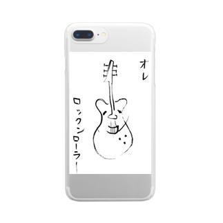オレ ロックンローラー Clear smartphone cases