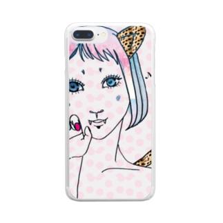 コスプレ少女 Clear smartphone cases