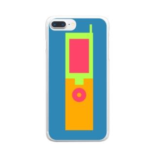 ガラガラケータイ2 Clear smartphone cases