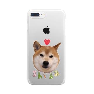 ラブリー柴犬 Clear smartphone cases