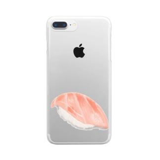 大トロスマホケース Clear smartphone cases