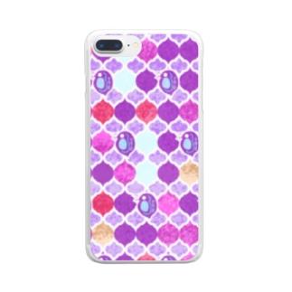 ミジンコ×モロッカン_紫 Clear smartphone cases