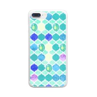 ミジンコ×モロッカン Clear smartphone cases