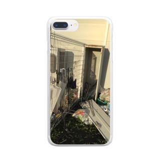 適応の台風のあと Clear smartphone cases