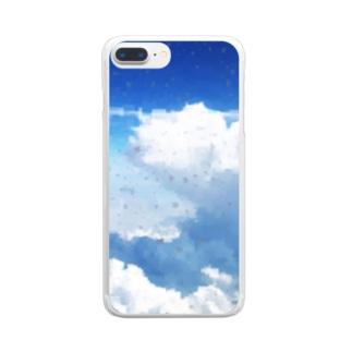 快適な空の旅デザイン 改 Clear smartphone cases