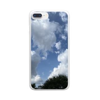 夏の空模様 Clear smartphone cases