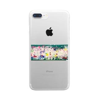 カラフルアート龍 Clear Smartphone Case