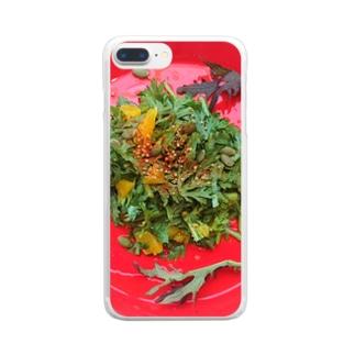 春菊とオレンジのサラダ Clear smartphone cases