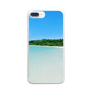 夏の海2 Clear smartphone cases