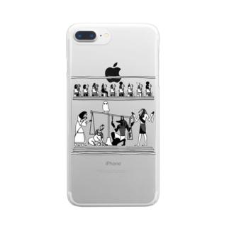 らくがきシリーズ★エジプトの神様たち Clear smartphone cases