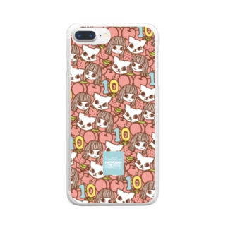 PetWORKs SUZURI Shopのでこニキ10th Clear smartphone cases