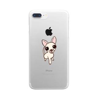 チワワ Clear smartphone cases