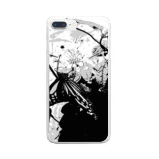 アオスジアゲハ Clear smartphone cases