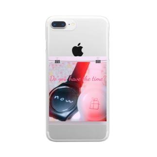 あるのは今だけ⌚✨ Clear smartphone cases