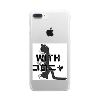 ハチくんwithコロニャ Clear smartphone cases