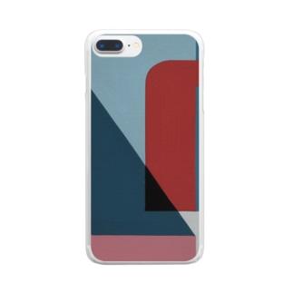 Geometric Letter series 'U' Clear smartphone cases