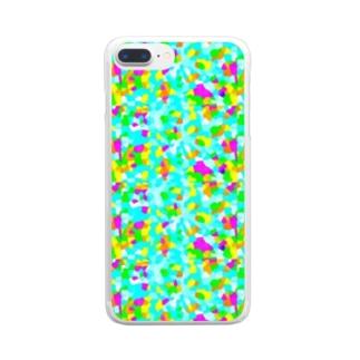 パステルカラーシリーズ Clear smartphone cases